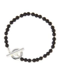 "Gucci | Black Sterling Silver Boule Chain 8.5"" Bracelet | Lyst"