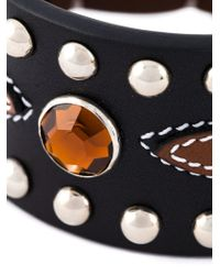 Givenchy - Brown Studded Bracelet - Lyst