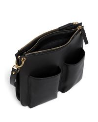 Marni - Black 'bandoleer' Double Pouch Leather Shoulder Bag - Lyst