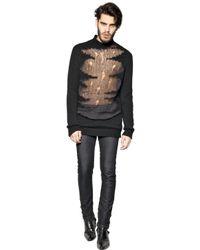 Tom Rebl Black Shredded Wool Blend Sweater for men
