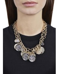 Kenneth Jay Lane - Metallic 22Kt Gold Plated Coin Charm Necklace - Lyst