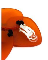 Monies - Yellow Resin Stone Earrings - Lyst