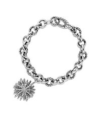 David Yurman | Metallic Charm Bracelet With Diamonds | Lyst