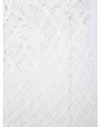 Comme des Garçons White Comme Des Garçons Fishnet Overlay Socks