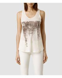 AllSaints | White Mirage Bard Vest | Lyst