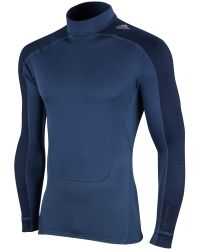 Adidas Blue Techfit Mock Long Sleeve T-Shirt for men