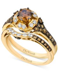 Le Vian | Brown Chocolate Diamond (1-1/4 Ct. T.w.) And White Diamond (1/4 Ct. T.w.) Ring Set In 14k Gold | Lyst