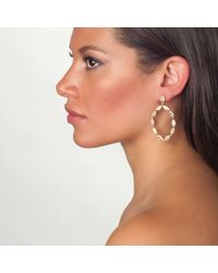 Asha | Metallic Stella Earrings, Clear | Lyst