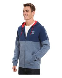 Adidas Originals | Blue Tracked Hooded Sweatshirt for Men | Lyst