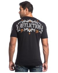 Affliction | Black Tried Fate T-shirt for Men | Lyst