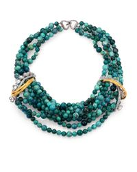 Alexis Bittar | Green Chrysocolla Feathered Tressage Multi-Strand Necklace for Men | Lyst