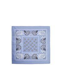 ASOS Blue Pocket Square With Bandana Print for men