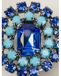 Ermanno Scervino - Blue Stone Embellished Earrings - Lyst