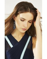 BCBGMAXAZRIA - Blue Multi Stone Earrings - Lyst