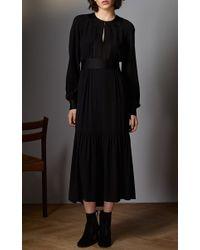 Vilshenko - Black Eliza Tiered Mini Dress - Lyst