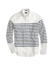 J.Crew | White Slim Vintage Oxford in Horizontal Stripe for Men | Lyst