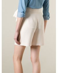 Chloé - Natural Draped Bow Detail Shorts - Lyst