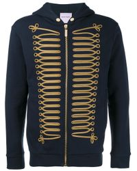 Palm Angels - Blue Embroidered Sweatshirt for Men - Lyst