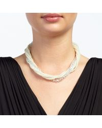John Lewis | White Faux Pearl And Bead Twist Necklace | Lyst