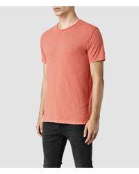 AllSaints - Orange Henning Crew T-shirt for Men - Lyst