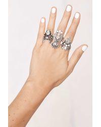 Nasty Gal - Metallic Miss Behaving Ring Set - Lyst