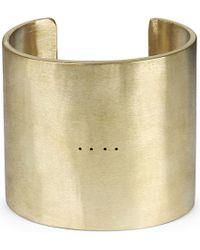 Parts Of 4 - Metallic Ultra Reduction Matte Brass Cuff Bracelet for Men - Lyst
