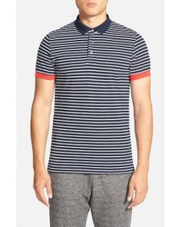 French Connection - Blue 'Pavenham' Polo for Men - Lyst