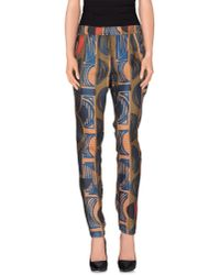 Manila Grace - Blue Casual Trouser - Lyst