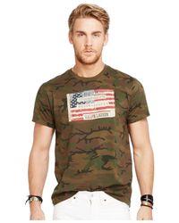 Denim & Supply Ralph Lauren | Green T-shirt, Short-sleeve Flag Graphic T-shirt for Men | Lyst