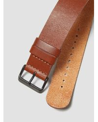 TID Brown Leather Wristband Tan for men