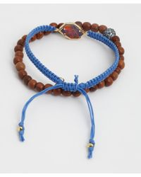 Tai - Set Of Two - Blue Montana Cinch And Beaded Bracelet - Lyst