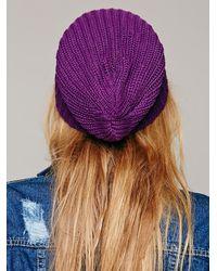 Free People Purple Womens Capsule Slouchy Beanie