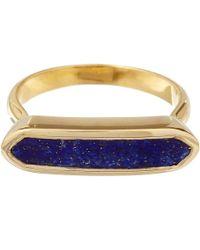 Monica Vinader - Blue Gold Vermeil Lapis Lazuli Baja Ring - Lyst
