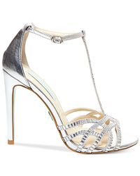 Betsey Johnson - Metallic Blue By Ruby Evening Sandals - Lyst