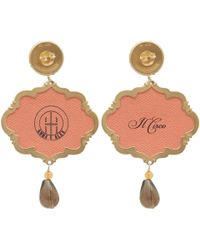 Anna E Alex | Brown Elephants Circus Drop Earrings | Lyst