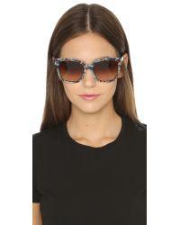 Diane von Furstenberg | Blue Julianna Sunglasses | Lyst