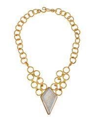 Stephanie Kantis - Metallic Silver-backed Quartz Pendant Necklace - Lyst