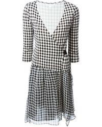 Diane von Furstenberg - Black 'Riviera' Gingham Dress - Lyst