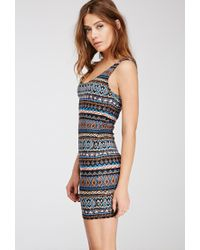 Forever 21 - Multicolor Tribal Print Bodycon Dress - Lyst