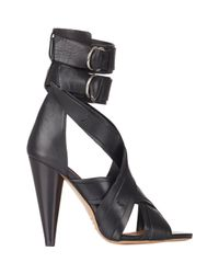 Isabel Marant Black Rosy Sandals