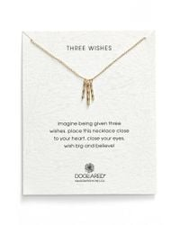 Dogeared | Metallic 'three Wishes' Pendant Necklace | Lyst