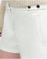 Zara | White Bermuda Shorts | Lyst