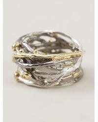 Bjorg - Metallic Big Nest Ring - Lyst