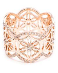 Dionea Orcini Metallic 18k Rose Gold Diamond Mini Semiramis Ring
