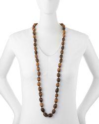 Eskandar - Brown Coco Rajado Single Necklace - Lyst