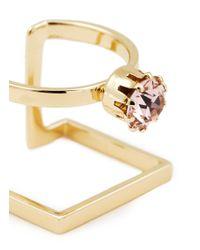 Joomi Lim | Metallic 'shape Shifter' Crystal 16k Gold Plated Ring | Lyst