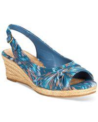 Bella Vita - Blue Sangria Too Espadrille Platform Wedge Sandals - Lyst