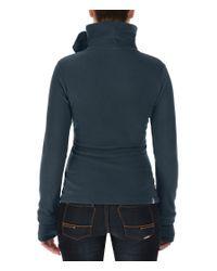 Bench - Blue Funnel Neck Zip Up Fleece Top - Lyst