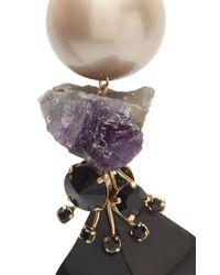 Marni - Multicolor Amethyst Strass Earrings - Lyst