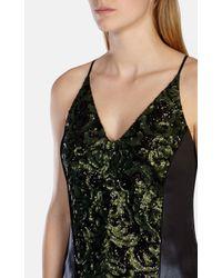 Karen Millen Limited Edition Green Sequin Top